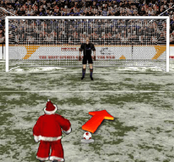 Santas penalty kick world cup